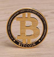 Позолоченная сувенирная монета ''Bitcoin 2018'', фото 1