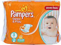 Подгузники Pampers Sleep & Play Midi (4-9 кг) 78 шт