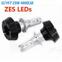Лед лампа автомобильная ближний свет G 7  Н 7 чип ZES 25 W.