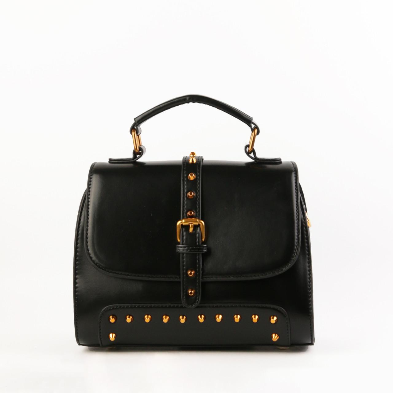 8c31842e27af Женская сумка кожаная объемная маленькая черная купить по выгодной ...