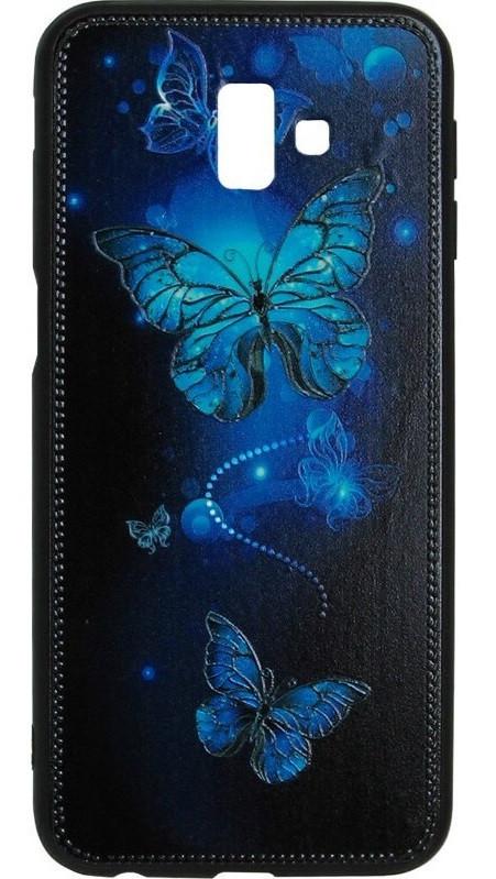 Чехол накладка для Samsung J6+ Butterflies Blue Night case