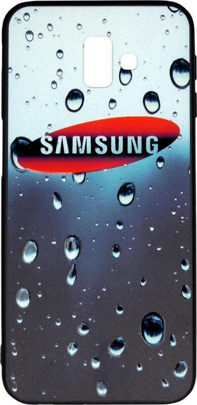 Накладка для Samsung J6+ (J610) Dark Blue 3D Rain