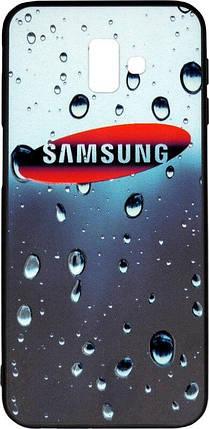 Накладка для Samsung J6+ (J610) Dark Blue 3D Rain, фото 2