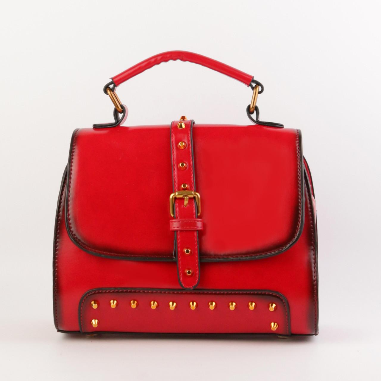 cbc7b6b382c0 Стильная женская сумка красная кожаная объемная купить по выгодной ...