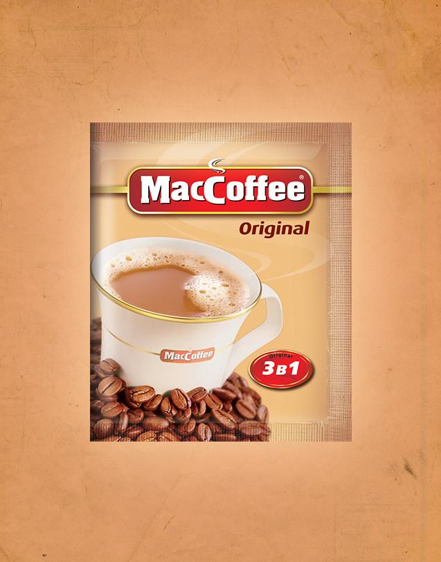 """Кава розчинна """"MacCoffee"""" 3в1 пакет 20 м х 50 шт х 20 шт в ящику"""