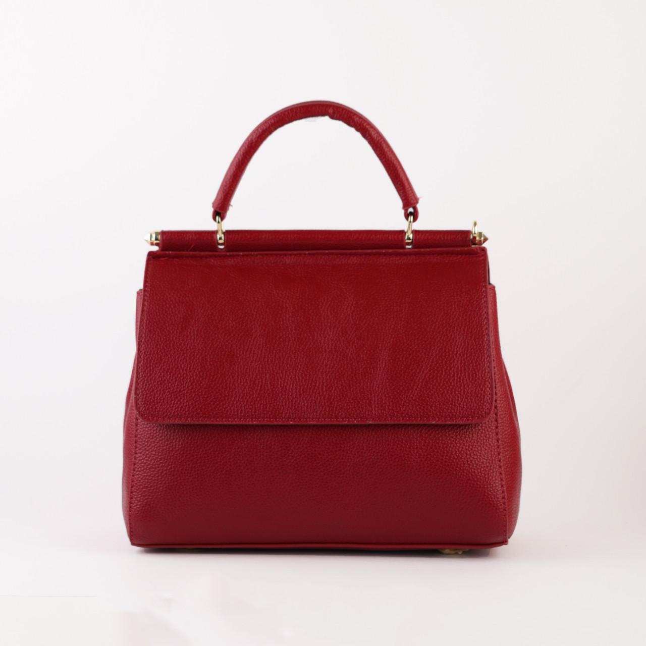 cb81c2d86453 Кожаная женская сумка красная среднего размера, цена 1 348,20 грн., купить  в Киеве — Prom.ua (ID#806362688)