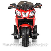 Детский электромотоцикл BAMBI красный, фото 3
