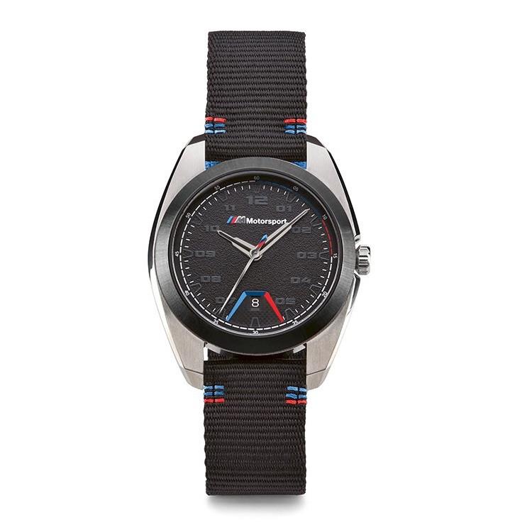 Оригінальний чоловічий наручний годинник BMW M Motorsport Watch, Men, Black / Silver, артикул 80262463266