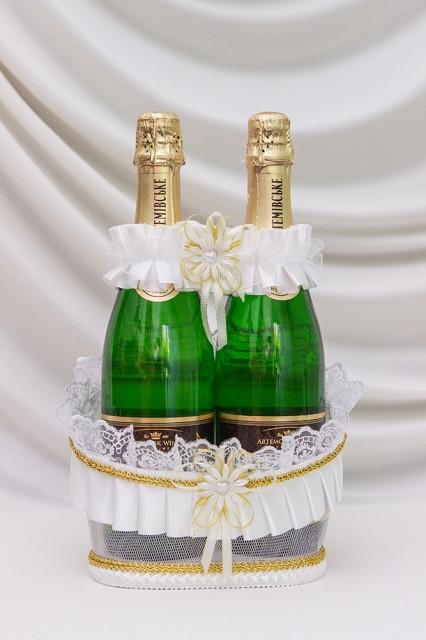 Корзинка под свадебное шампанское Bonita Романтика белая