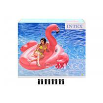 Надувной плот Intex Розовый Фламинго 218 х 211 х 136 см,56288 Мега остров,фламінго