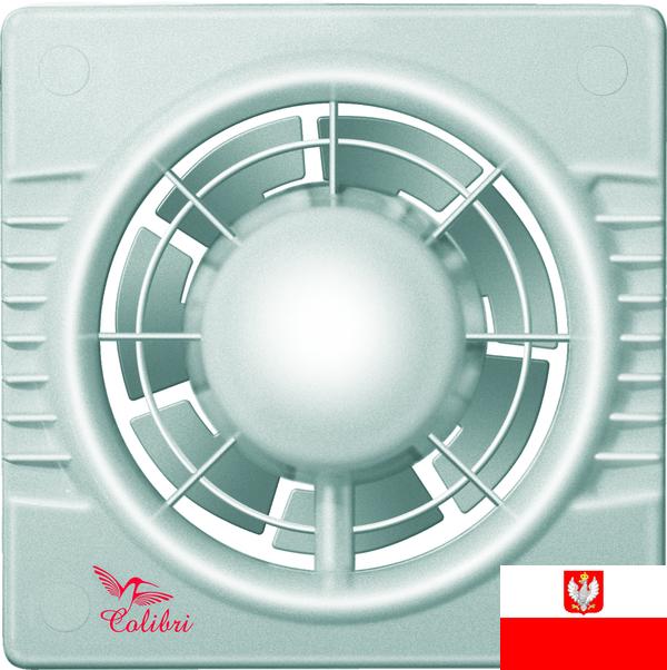 Внешний вид ультракомпактного осевого вытяжного вентилятора для настенного и потолочного монтажа Colibri 100 titan (диаметр патрубка воздуховода ― 100 мм, высокая производительность, малошумный) ― купить вентилятор по низкой цене с доставкой по Украине в интернет-магазине ventsmart.com.ua