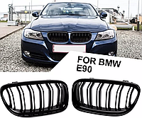 Решетка радиатора ноздри BMW E90 E91 бмв е90 е91 черный рестайлинг