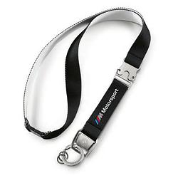 Оригинальный шнурок с карабином BMW M Motorsport Lanyard, Black, артикул 80272461132
