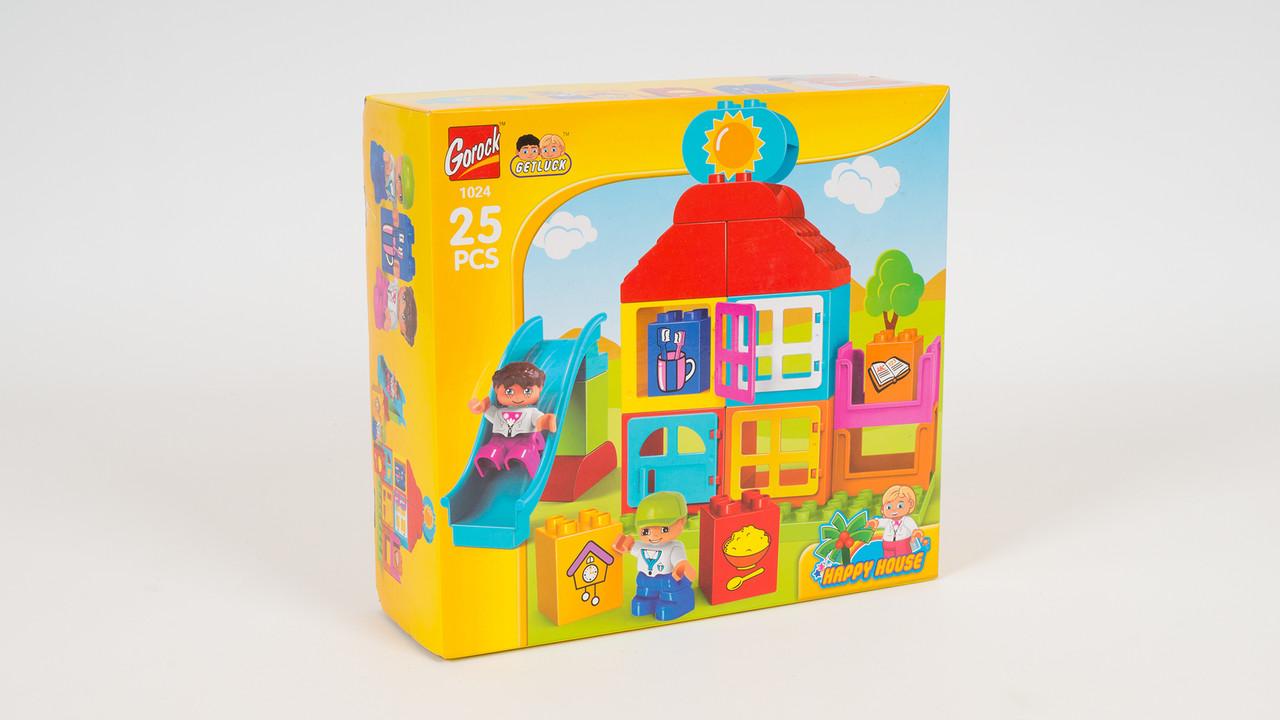 Конструктор - игровая площадка. В коробке от 25 деталей до 52 деталей. 4 вида