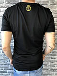 Красивая Мужская Футболка Billionaire черная 100% Хлопок Топ Новинка 2019 года Биллионер реплика, фото 2