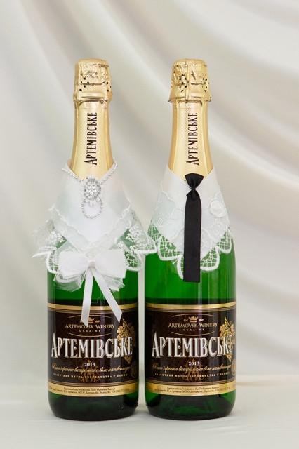 Свадебный набор для декора шампанского Bonita Жених и невеста (006)