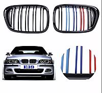 Решетка решетки решотки радиатора BMW 5 E39 M Performance ноздри двухреберная Е39 бмв