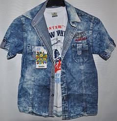 Рубашка+футболка для мальчиков от 5-8 лет.Детская одежда оптом