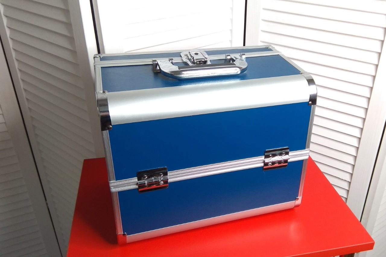 Кейс для мастера красоты, синий в металле