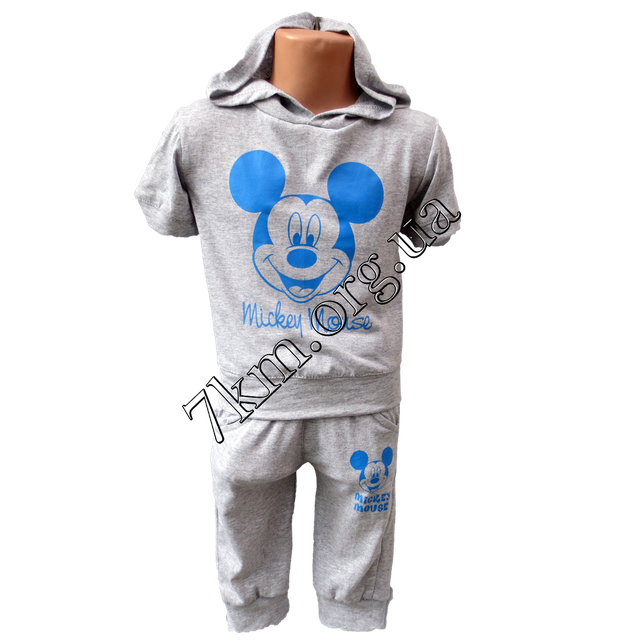 371877b2db1e Детский спортивный костюм летний Микки для мальчиков 2-6 лет Електрик M50204