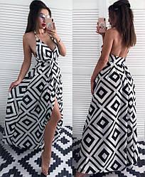 Платье  в пол принт 84063