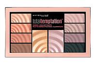 Палетка для макияжа  Maybelline Total Temptation Palette Палитра теней для век (10 цветов)