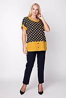 Жіноча блуза в горох з софту , фото 1
