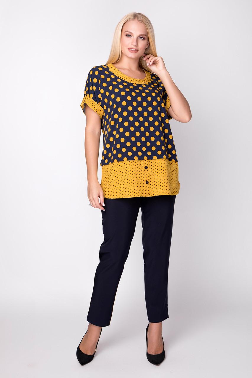 Жіноча блуза в горох з софту