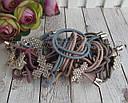 Резинки для волос с цветные с украшением в стразах 12 шт/уп., фото 2