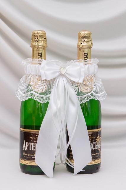 Свадебное украшение для декора шампанского Bonita Престиж