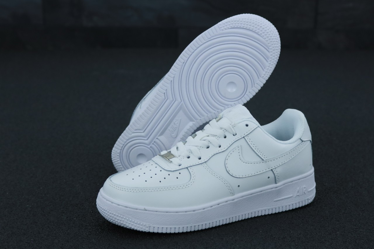 af0b69dd Кроссовки мужские Nike Air Force в стиле Найк Аир Форс, натуральная кожа,  текстиль код