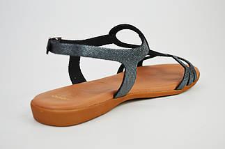 Босоножки кожаные серебристые Presso 4009, фото 2