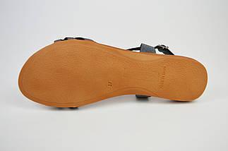 Босоножки кожаные серебристые Presso 4009, фото 3