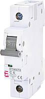Автоматический выключатель ETIMAT 6 1p C 6А (6 kA) ETI