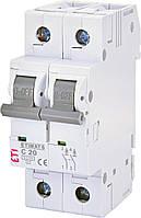 Автоматический выключатель ETIMAT 6 2p C 20А (6 kA) ETI