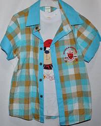 Рубашка+футболка для мальчиков от 1-6 лет.Детская одежда оптом