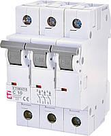 Автоматический выключатель ETIMAT 6 3p C 10А (6 kA) ETI