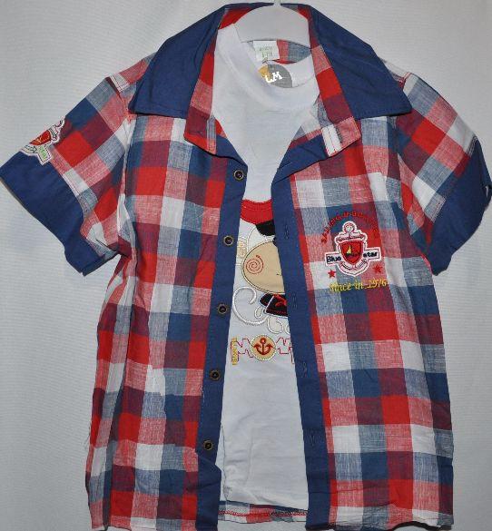 69a74eda6cf Рубашка+футболка для мальчиков от 1-6 лет.Детская одежда оптом ...