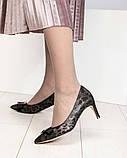 Эффектные, комфортные женские туфли лодочки с тиснением, фото 5
