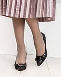 Эффектные, комфортные женские туфли лодочки с тиснением, фото 3