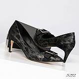 Эффектные, комфортные женские туфли лодочки с тиснением, фото 4