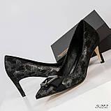 Эффектные, комфортные женские туфли лодочки с тиснением, фото 6