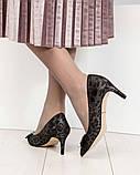 Эффектные, комфортные женские туфли лодочки с тиснением, фото 9