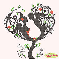 "Схема для вышивки ""Дерево любви"""
