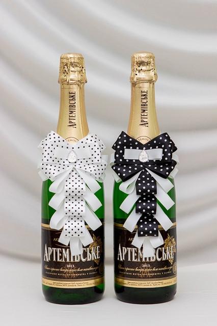 Свадебный набор для декора шампанского Bonita Жених и невеста (007)