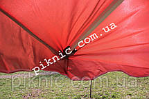 Торговый зонт 3х3м квадратный Серебро+Клапан Прочный зонт для торговли на улице Красный 351, фото 3
