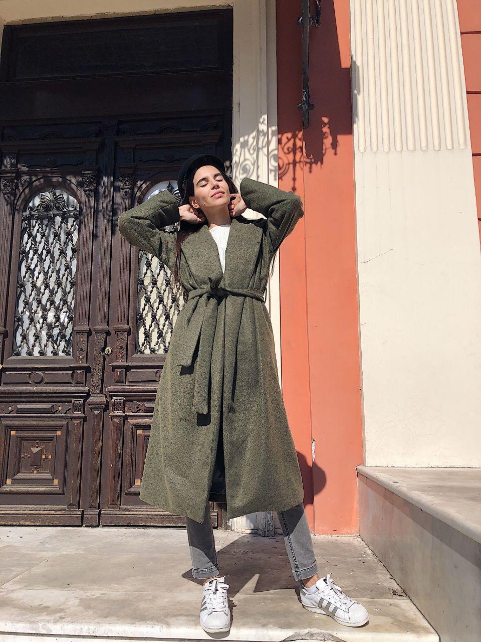 Женское демисезонное пальто оверсайз SM, LXL