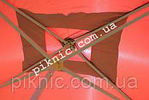 Зонт торговый 2,5х3,5м (Серебро+Клапан). Мощный зонт для торговли на улице, садовый Красный!, фото 3