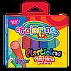 """Пластилин Colorino """"С блестками"""" 6 цветов 100 г блестящий пластилин"""