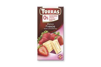 ШоколадTorras White & Strawberries75 g